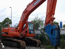 used Doosan track excavator