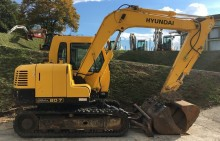 excavadora de cadenas Hyundai usada