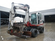 used Takeuchi wheel excavator