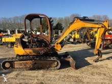 damaged JCB mini excavator