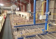 unidad de producción de productos de hormigón usado