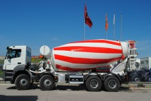 new Mercedes concrete mixer truck