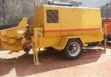 used Sumab concrete pump truck