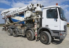used Mercedes concrete mixer + pump truck