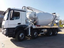 new Mercedes concrete mixer + pump truck