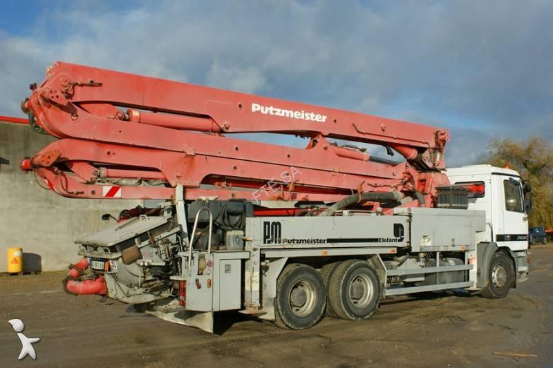 Used putzmeister concrete pump truck 3614 h n 1559940 - Pompe a teton ...