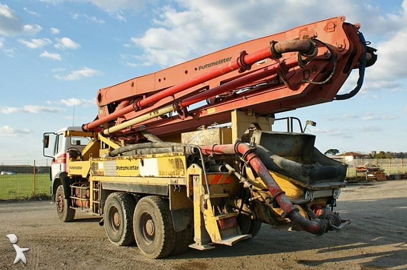 Used putzmeister concrete pump truck bsf n 1618836 - Pompe a teton ...
