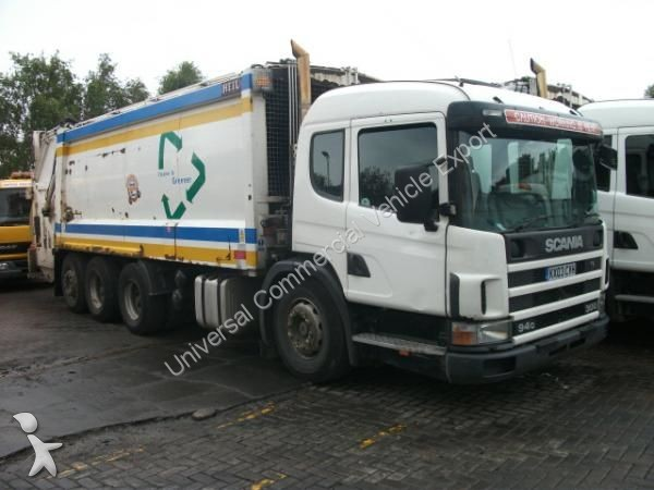 Camion benne ordures m nag res occasion scania nc p94 for Location benne a ordure