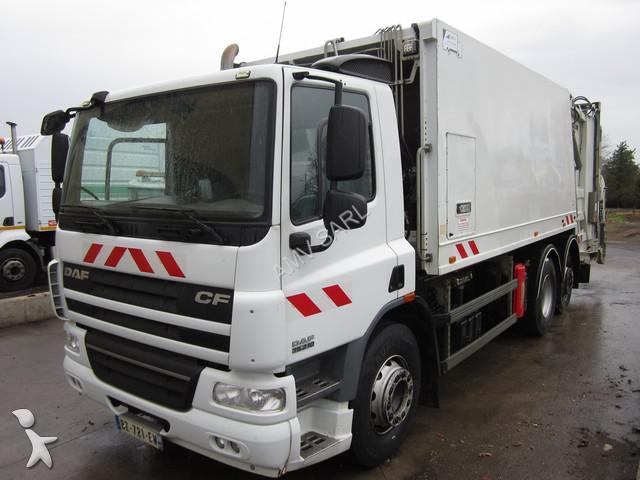 Camion benne ordures m nag res daf an75 6x2 gazoil euro for Location benne a ordure