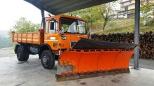 used MAN snow plough-salt spreader