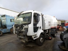 damaged road sweeper