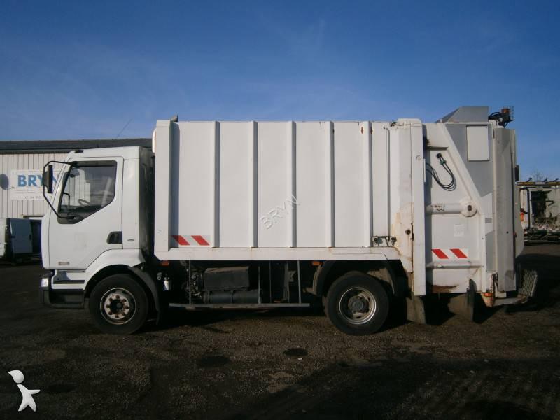 Camion benne ordures m nag res renault midlum 220 4x2 for Location benne a ordure
