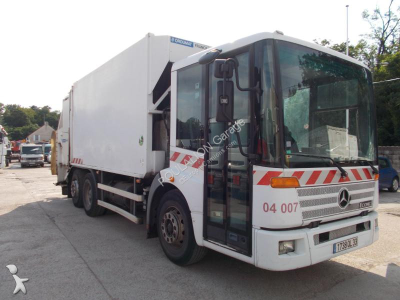 Camion benne ordures m nag res mercedes econic d2628 6x2 for Garage mercedes bonneuil sur marne