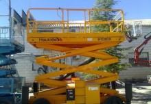plataforma automotriz Plataforma de tijeras Haulotte usada