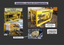 used Putzmeister water pump