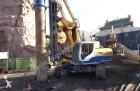 trivellazione, battitura, tranciatura carrello perforatore Bauer usata