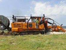 Rivard trencher drilling, harvesting, trenching equipment