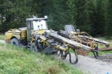 trivellazione, battitura, tranciatura carrello perforatore Atlas Copco usata