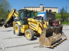 used Komatsu articulated backhoe loader