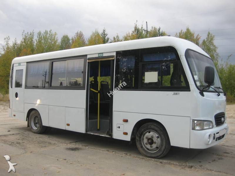 photos autobus hyundai minibus hyundai hd county occasion 631971. Black Bedroom Furniture Sets. Home Design Ideas
