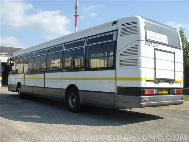 autobus renault interurbain r312 gazoil occasion n 20063. Black Bedroom Furniture Sets. Home Design Ideas