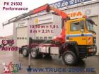 MAN 28.403 6x6 mit Kran PK21502 10m=1,8t. Retarder tractor unit