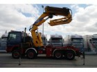 cap tractor Mercedes Actros 4150 V8 8X8 WITH EFFER 1250 CRANE WITH JI