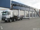 cap tractor Mercedes Actros 4144 8x4 Euro 5 with Hiab 105 t/m crane +