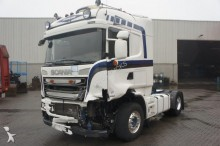 damaged Scania tractor unit