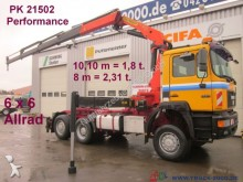 MAN 28.403 6x6 Kran PK21502 lenkbare 3. Achse tractor unit