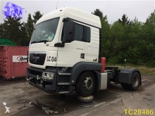 damaged MAN tractor unit