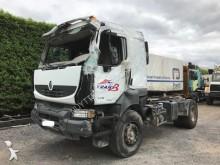 damaged Renault tractor unit