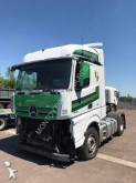 damaged Mercedes tractor unit