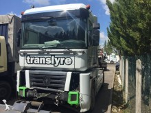 damaged Renault tractor unit