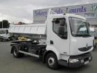 used Renault three-way side tipper truck