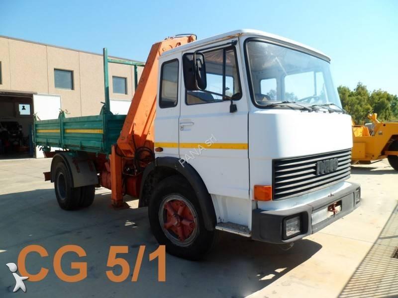 Camion fiat ribaltabile trilaterale 130 gru autogr usato - Portata massima camion italia ...