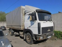 used MAZ dropside flatbed tarp truck