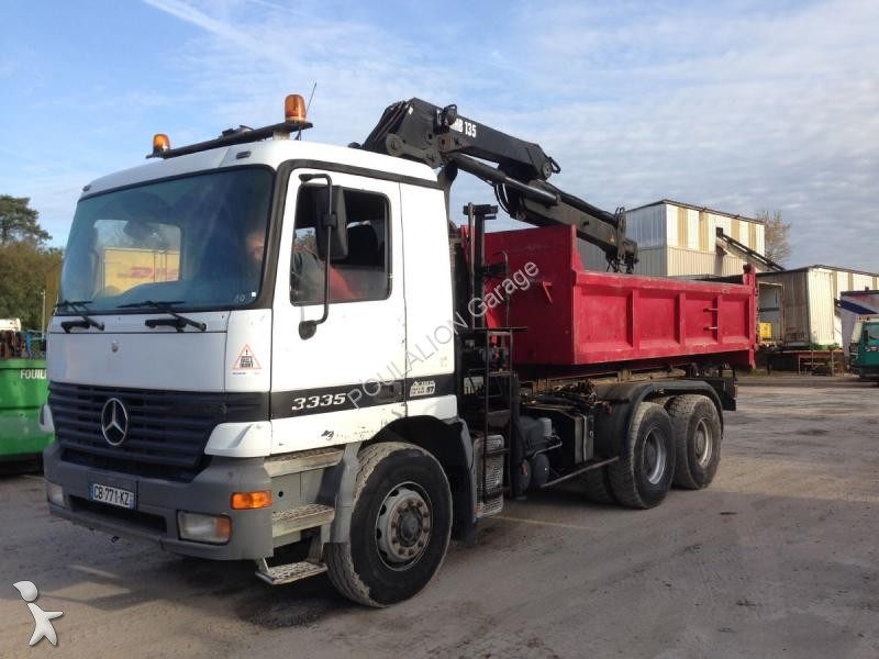 Camion mercedes polybenne actros 3335 6x4 gazoil euro 2 for Garage mercedes bonneuil sur marne