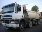 camion halfpipe tipper DAF incidentato