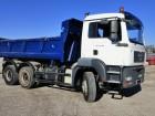 camion ribaltabile bilaterale MAN incidentato