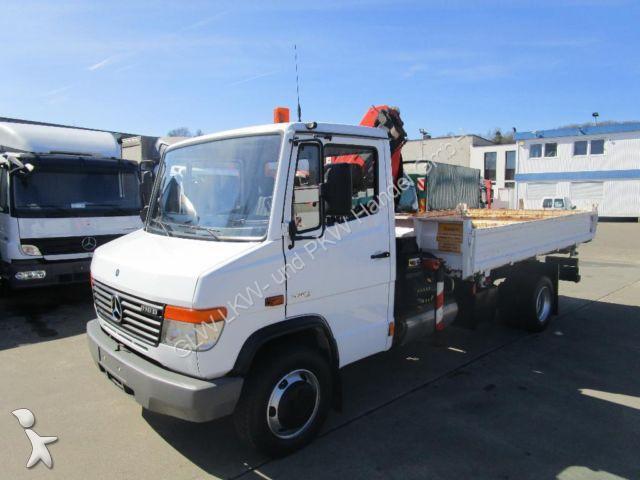 camion mercedes tri benne vario 816 d kipper kran palfinger pk 4501 gazoil euro 4 occasion n. Black Bedroom Furniture Sets. Home Design Ideas