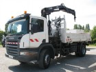 used Scania two-way side tipper truck