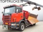 Scania 114.340 6x6 CRANE TIPPER MANUAL RETARDER SPRING truck