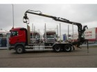 camion Scania R 440 6X4 FO LOG TANSPOT WITH KESLA CANE MAN