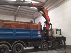 camión volquete trilateral Scania usado