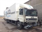 camion furgone DAF incidentato