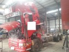 damaged Scania chassis truck