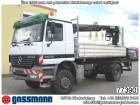 camion Mercedes Actros 2035 4x4 mit Kran Hiab 102-2,