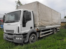 camion camion platforma cu prelata si obloane Iveco second-hand