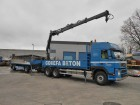 camión Volvo FM 12 6X4 + HIAB 166XS + PACTON TRAILER
